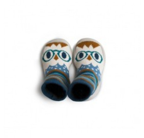 Collégien Slippers Hiboux Blue