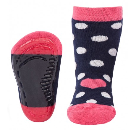 Ewers anti-slip socks Navy White dots