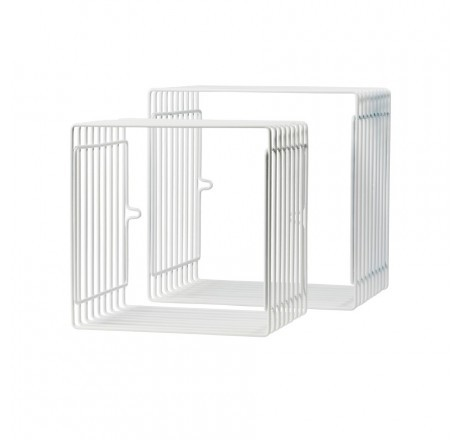 Done by Deer Wire shelf, square, 2 pcs., white