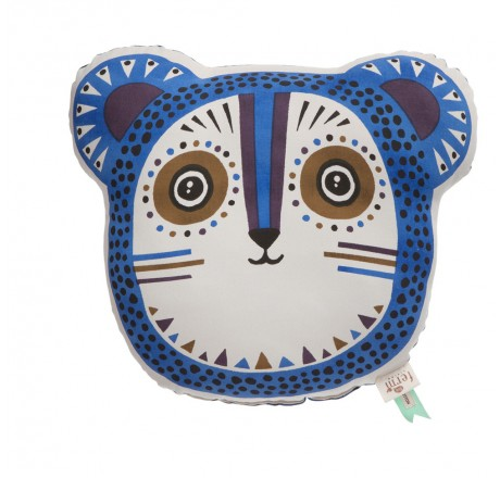 ferm Living Billy Bear Cushion - Blue