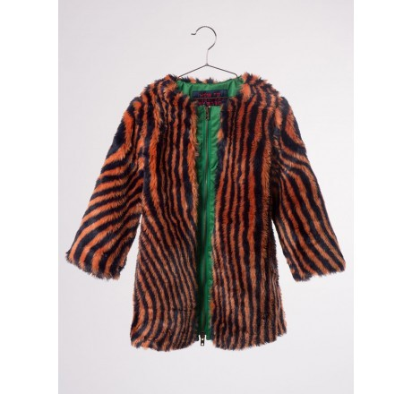 Bobo Choses Hypnotized Coat Faux Fur Orange