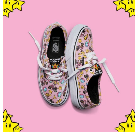 Vans Nintendo Authentic Princess Peach/motorcycle