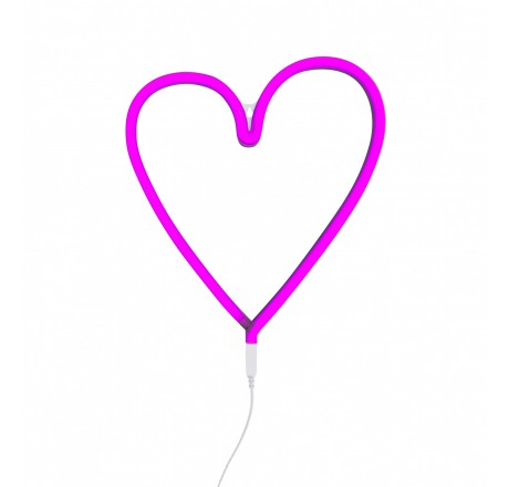 A Little Lovely Company Neon style light: Heart – pink