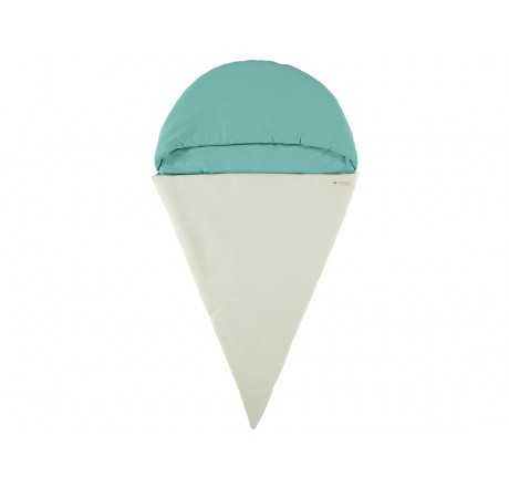 Nobodinoz Sleeping bag Ice Cream Tropical Green