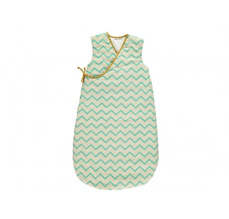 Nobodinoz Sleeping bag Montreal Zig Zag Green
