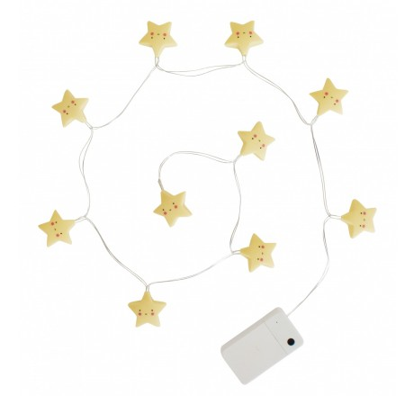 A Little Lovely Company String lights Stars Yellow