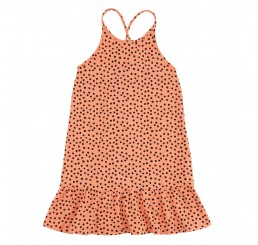 Soft Gallery Vicky Dress Peach Pink, AOP Mini Hail
