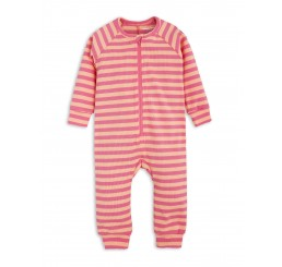 Mini Rodini STRIPE RIB JUMPSUIT pink