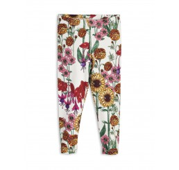 Mini Rodini GARDEN LEGGINGS Off White