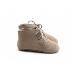 Mockies Classic Boots Taupe Suede Leather