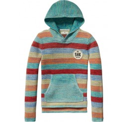 Scotch Shrunk Colourfule stripe knitted hoody