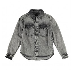 Finger in the Nose DAO Grey Denim Snow Shirt