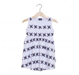Lucky No.7 Ethnic Safari Kriss Kross Dress White