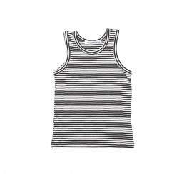 Mingo Singlet Black-White Stripes