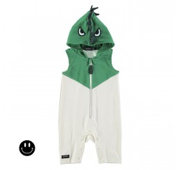 Yporqué Baby Dino One-piece Green+Cru