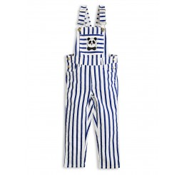 Mini Rodini STRIPE DUNGAREES Blue