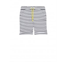 Little 10 Days Bermuda Thick Stripe White-black