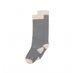 Mingo Knee socks Striped/dusty pink