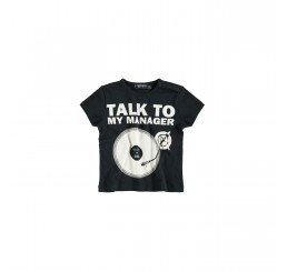 Yporqué Talk To ... Baby Tee Black