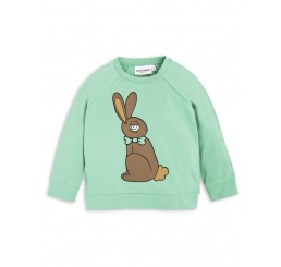 Mini Rodini RABBIT SP LONGSLEEVE CUFF TEE green