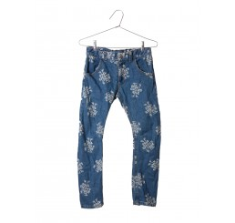 Bobo Choses Denim Trousers 1968 Allover print