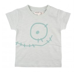 Small Rags Eddy Short sleeve Top Aqua Gray