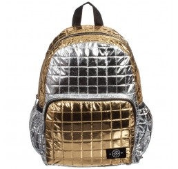 Molo Quilted Rucksack Block Silver Gold