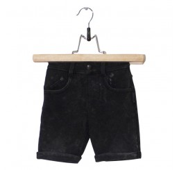Lucky No.7 Ethnic Safari Black Jog Denim Short