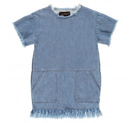 Finger in the Nose BUBBLE Blue Denim Dress