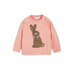 Mini Rodini RABBIT SP LONGSLEEVE CUFF TEE pink