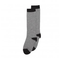 Mingo Knee Sock black/white striped