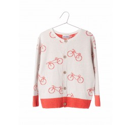 Bobo Choses Knit Cardigan The Cyclist Allover prin