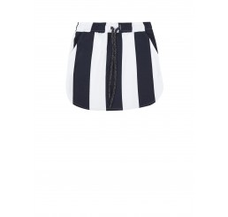 Little 10 Days Stripe Skirt Black Blue