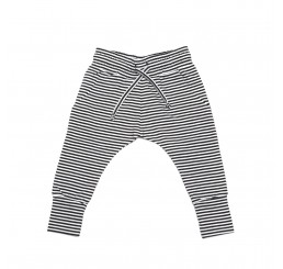 Mingo Slim-fit jogger Stripe Black-white
