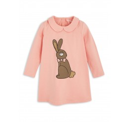 Mini Rodini RABBIT SP COLLAR DRESS pink