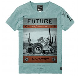 The Future is Ours T-shirt Baja Green
