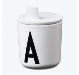 Design Letters Drink Lid White