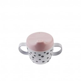 Done by Deer 2-handle spout cup, Happy dots, powder
