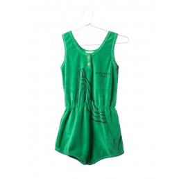 Bobo Choses Terry Waistband Playsuit Slide Green