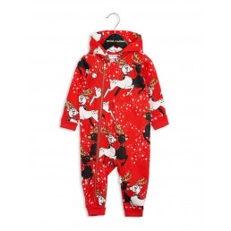 Mini Rodini Reindeer Onesie Red