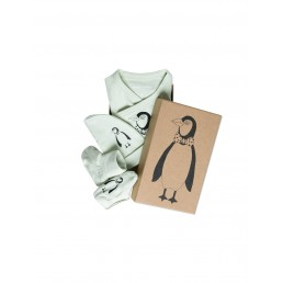 Mini Rodini Penguin Baby Kit Green