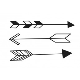ferm Living Arrow Wallsticker - Black