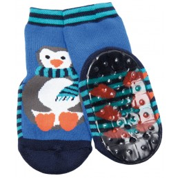 Ewers anti-slip socks Aqua Penguin