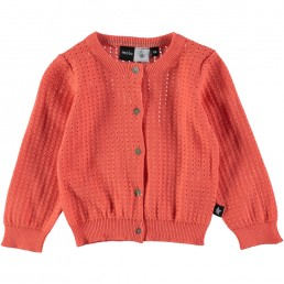 Molo Kids Cardigan Ginny Living Coral