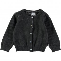 Molo Kids Cardigan Ginny Dark Grey Melange