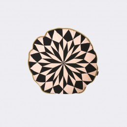 ferm Living Star Round Cushion Rose