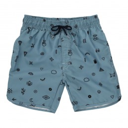 Soft Gallery Oliver Swim Pants Smoke Blue Elements