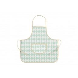 Nobodinoz Apron Sicilia Green Diamonds