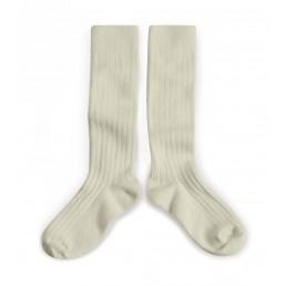 Collégien Knee High Socks Cream Doux agneaux