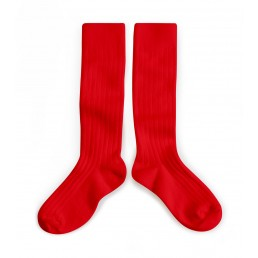 Collégien Knee High Socks Red Vrai Rouge